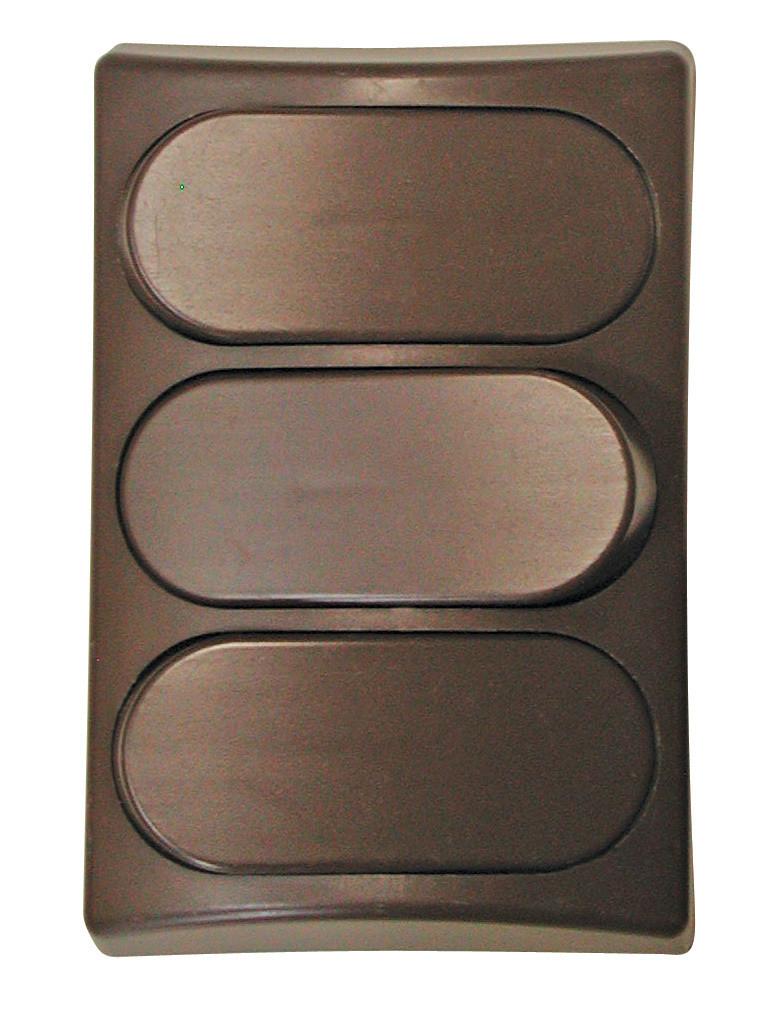 Designer Wall Plate - Brown Triple