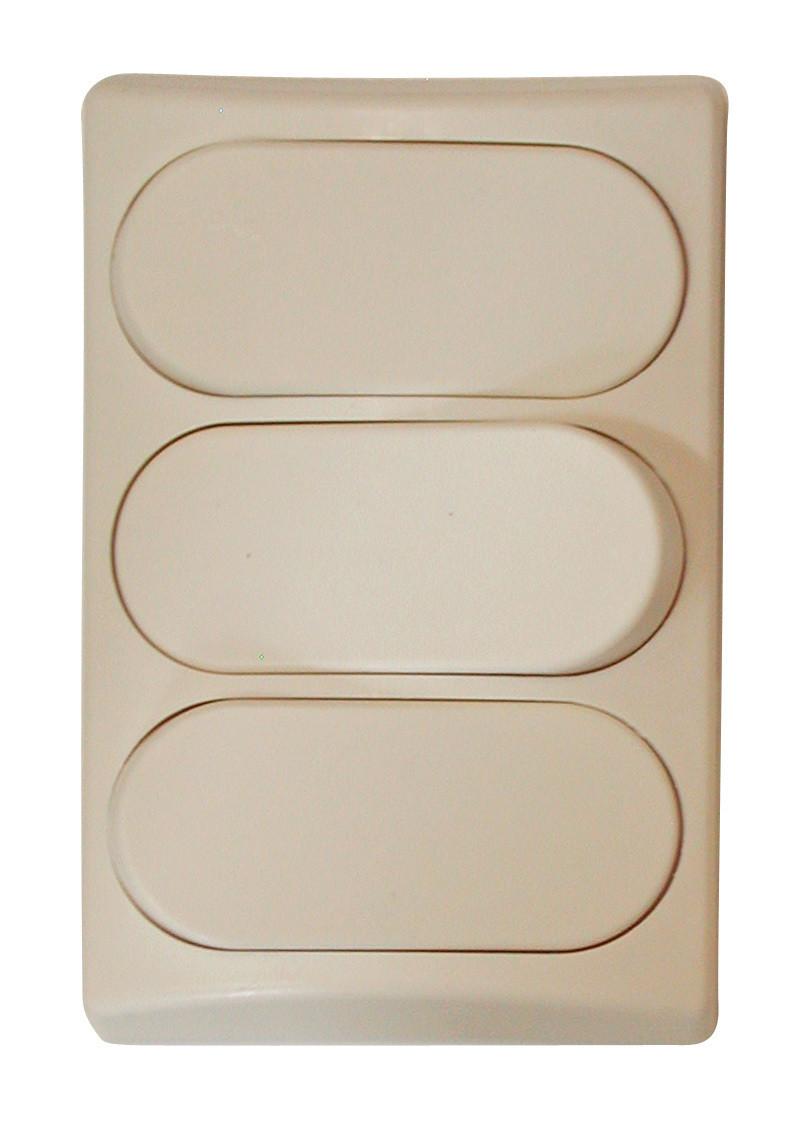 Designer Wall Plate - Ivory Triple