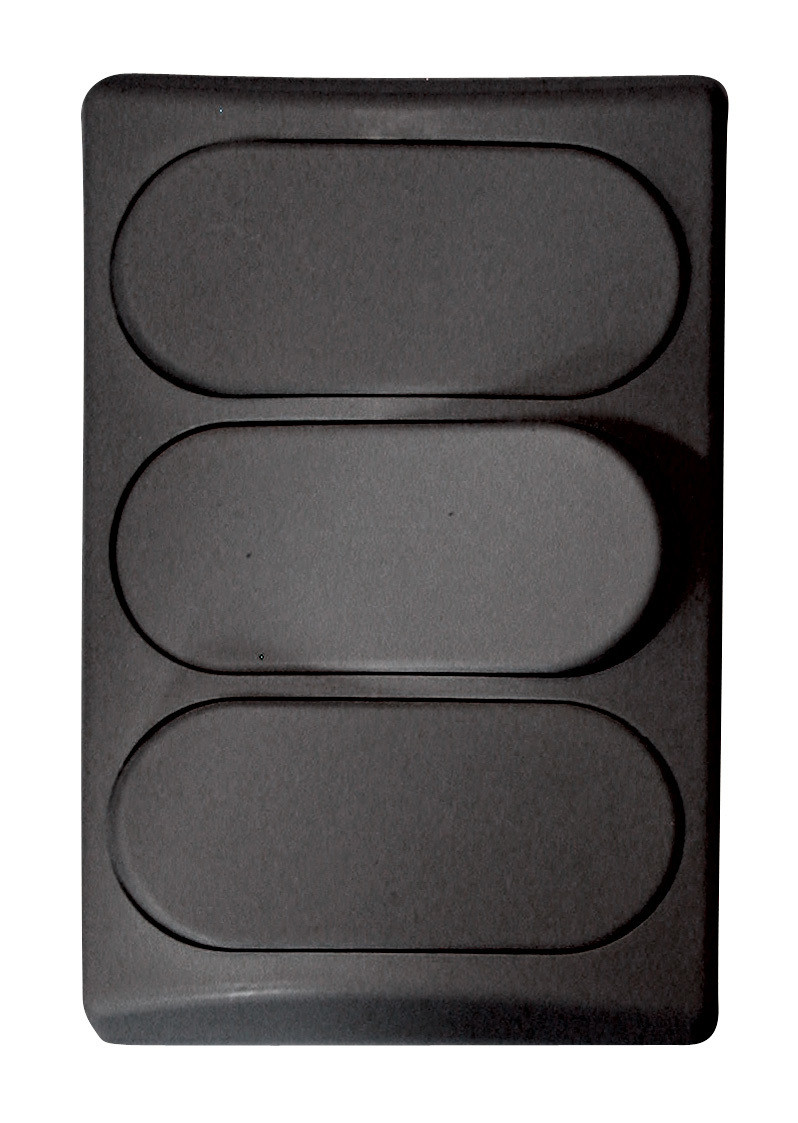 Designer Wall Plate - Black Triple