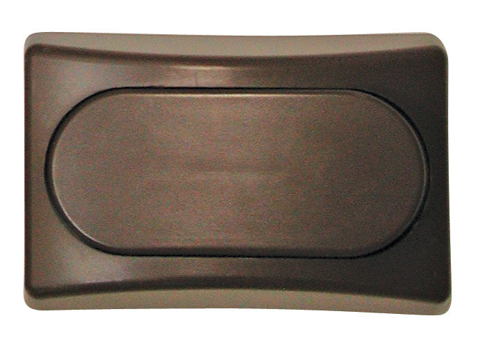 Designer Wall Plate - Brown Single