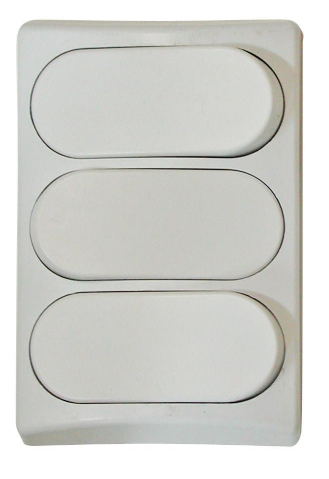 Designer Wall Plate - White Triple