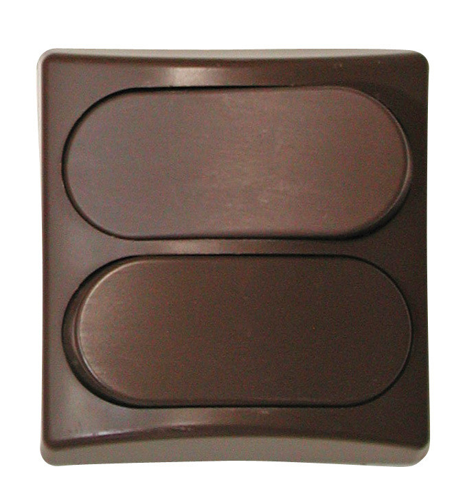 Designer Wall Plate - Brown Double