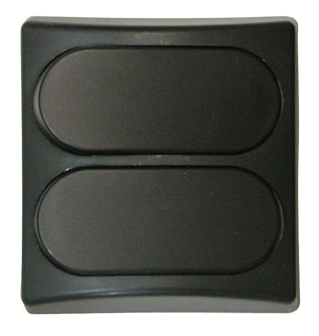 Designer Wall Plate - Black Double