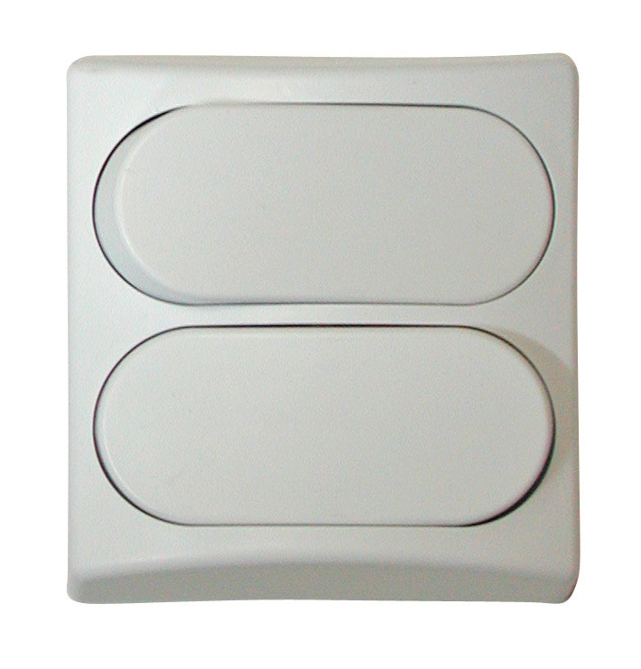 Designer Wall Plate - White Double