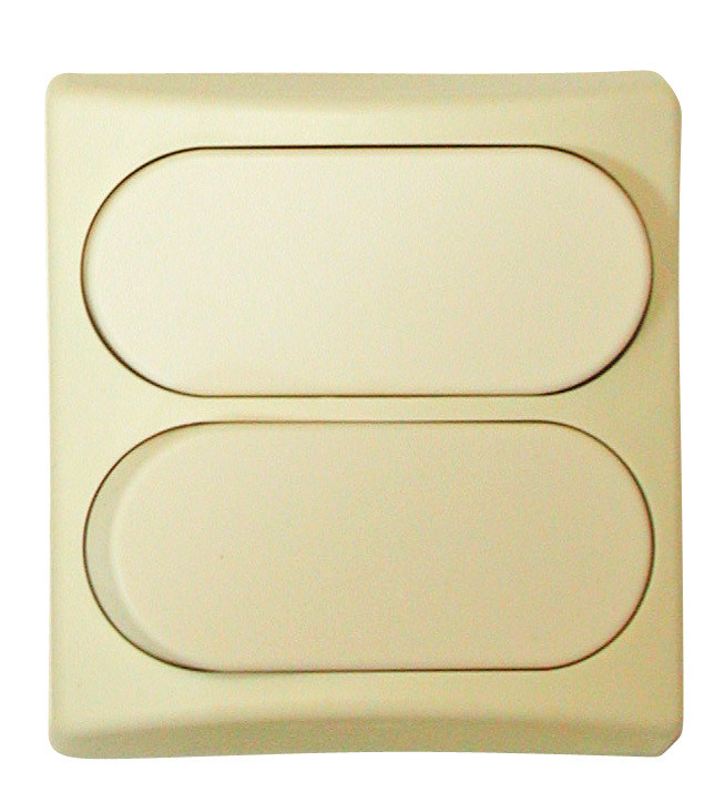Designer Wall Plate - Ivory Double