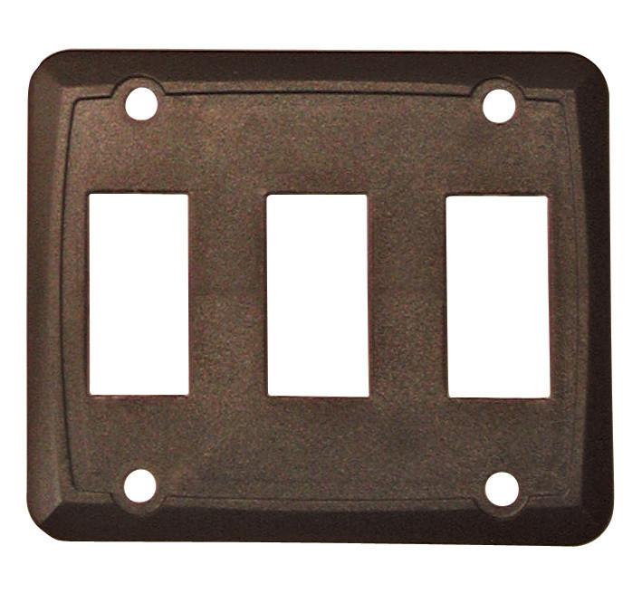 Triple Face Plate - Brown 1/card