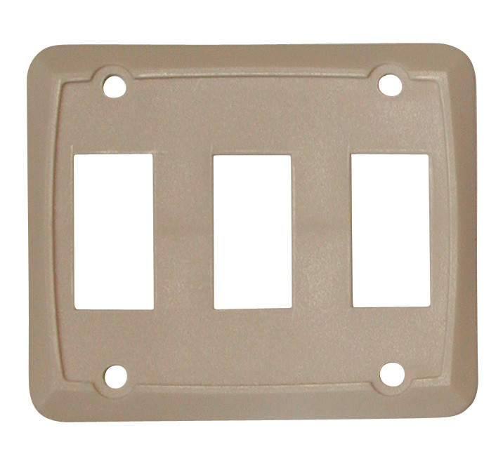 Triple Face Plate - Ivory 1/card