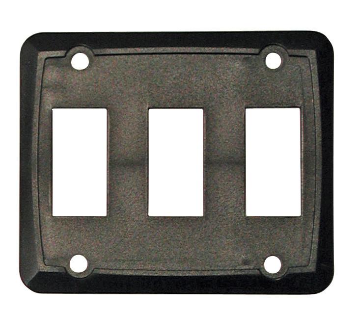 Triple Face Plate - Black 1/card