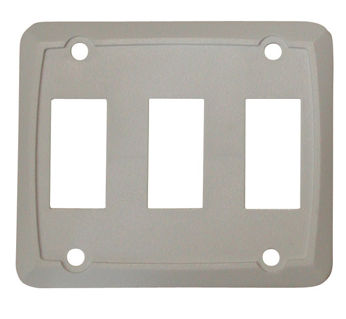 Triple Face Plate - White 1/card