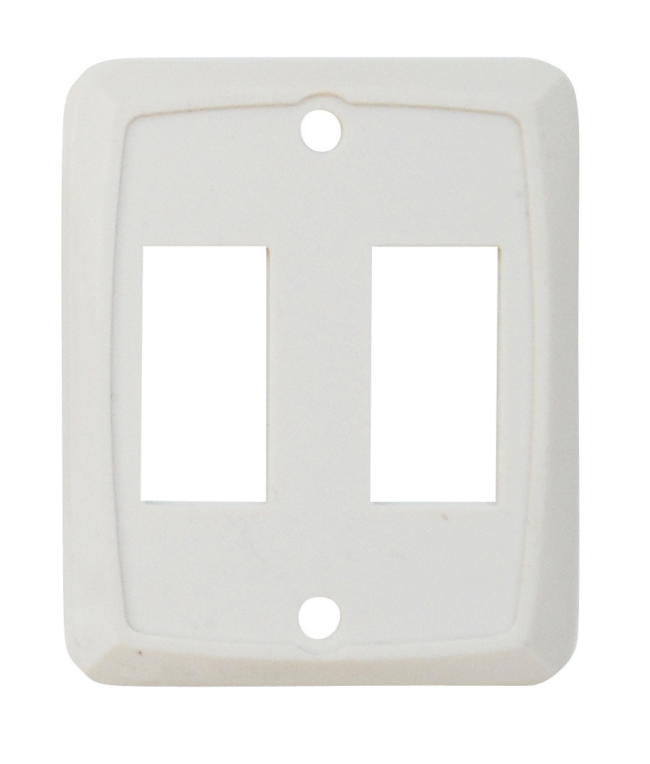 Double Face Plate - Ivory 1/card