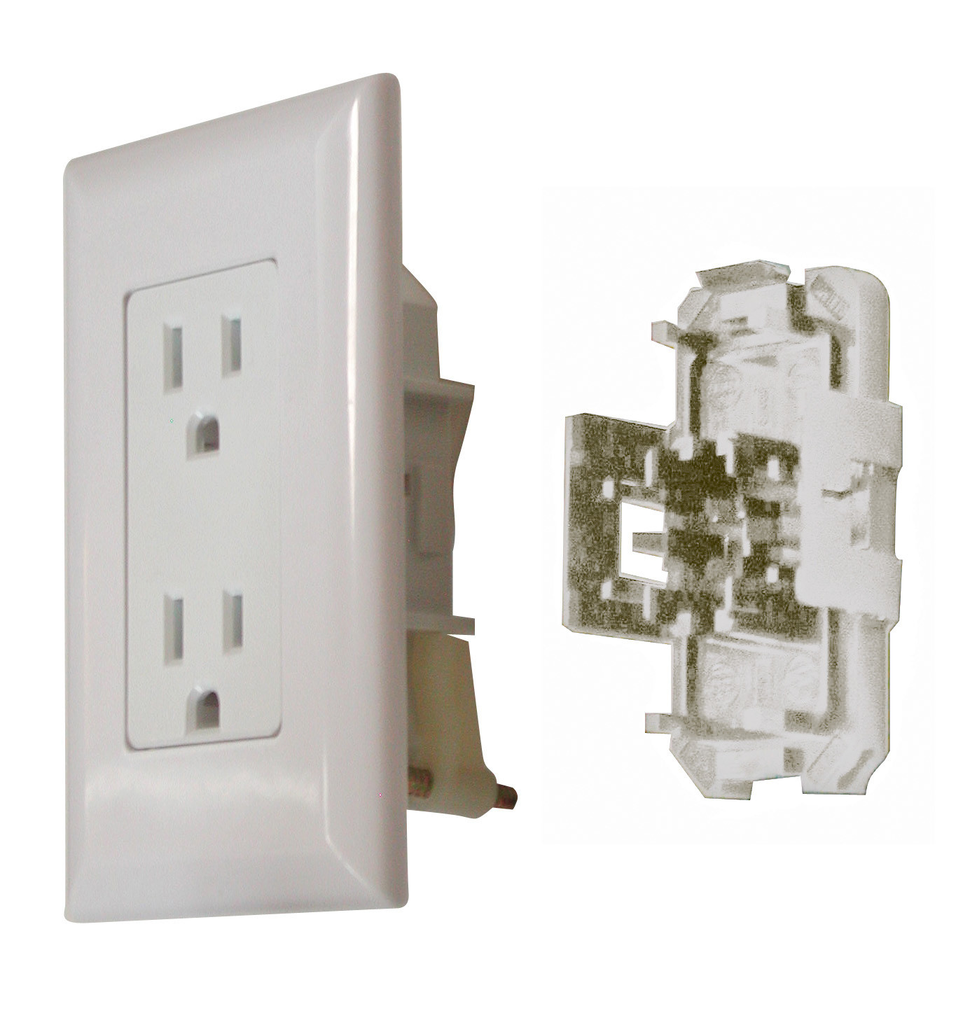 20 Amp Decor Receptacle with Cover - White