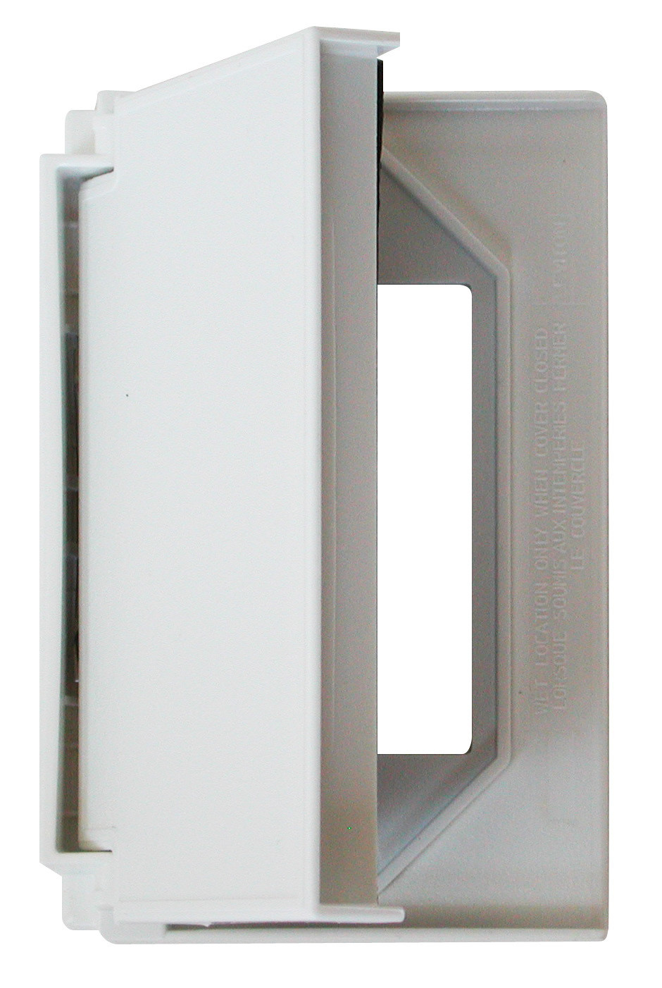 Decor Receptacle Cover - White