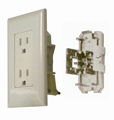 15 Amp Decor Receptacle With Cover - Ivory