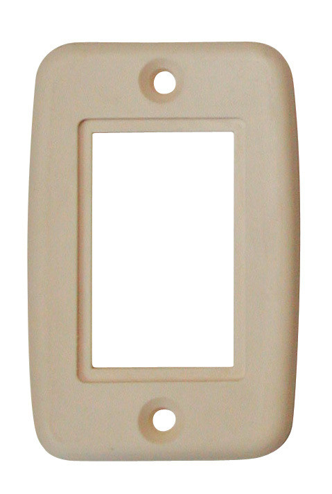 Exposed 5 Pin Side by Side Wall Plate - Biscuit