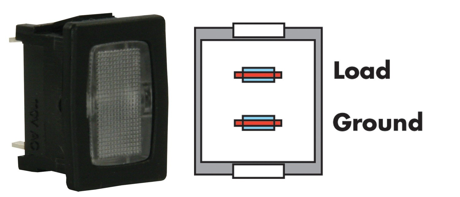 Black, Clear Indicator Lamp
