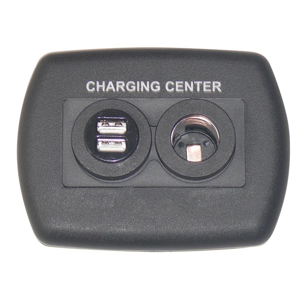 Eurostyle USB Charging Center - Black