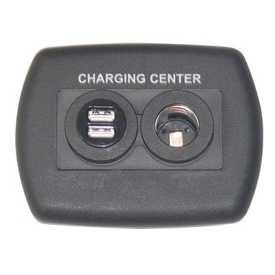 Eurostyle USB Charging Center - Black