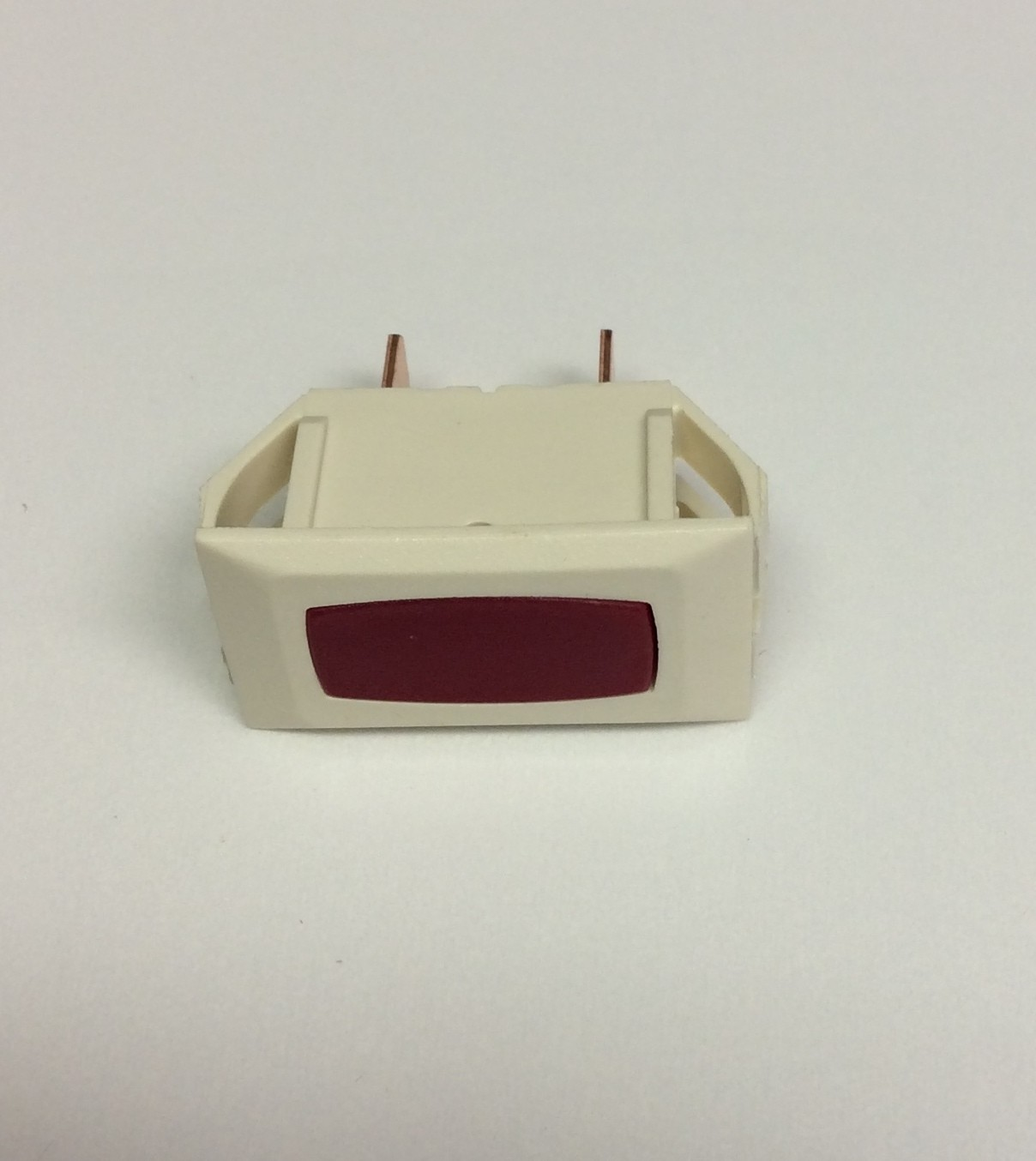 Illuminated Indicator Light - Red/Ivory