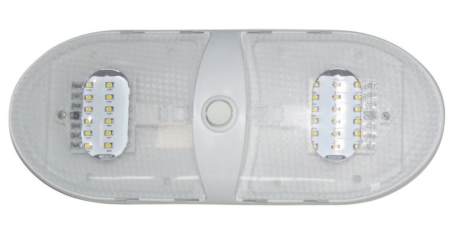 Slim Line Double LED Dome Light