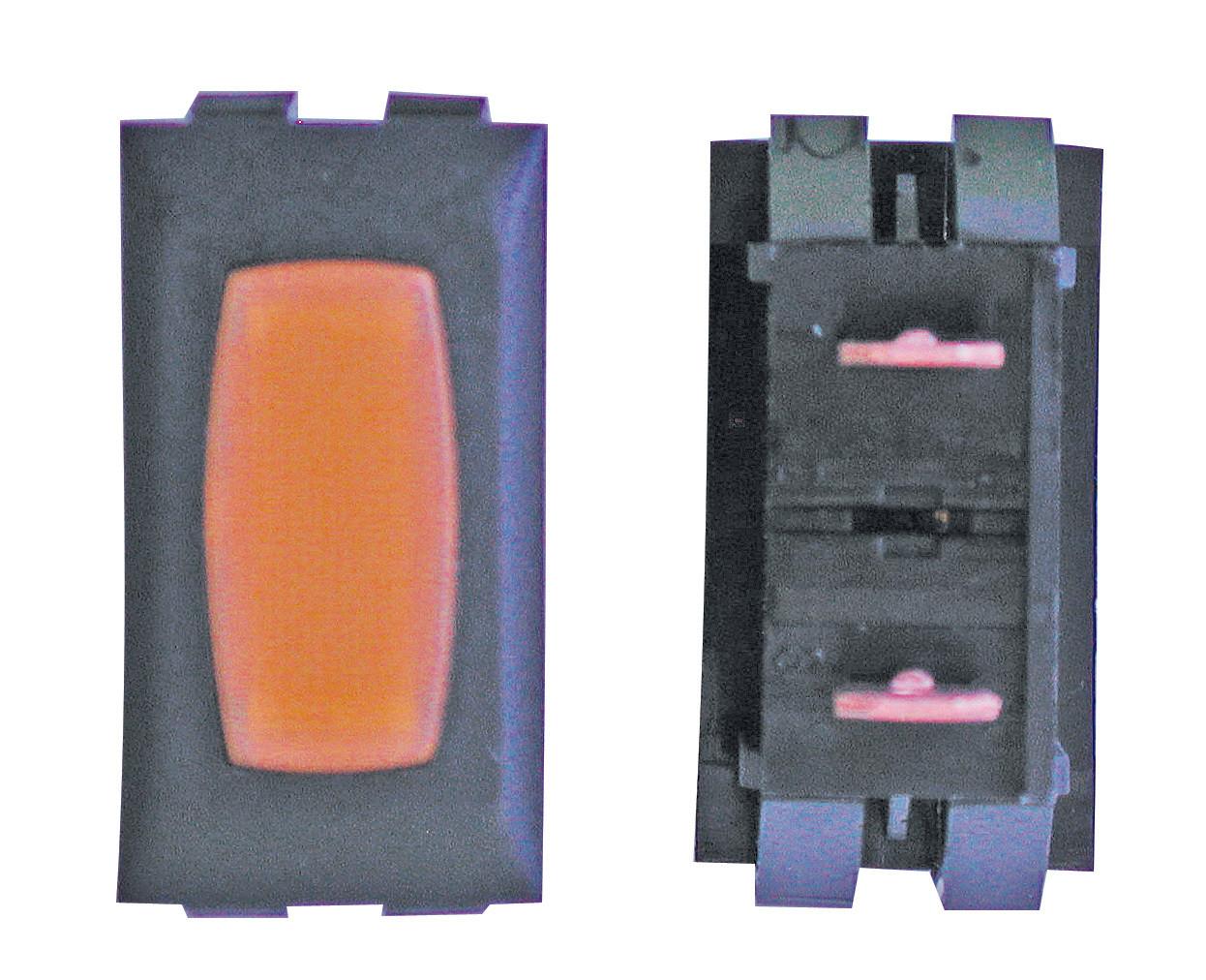 Illuminated Indicator Light - Amber/Black 1/card
