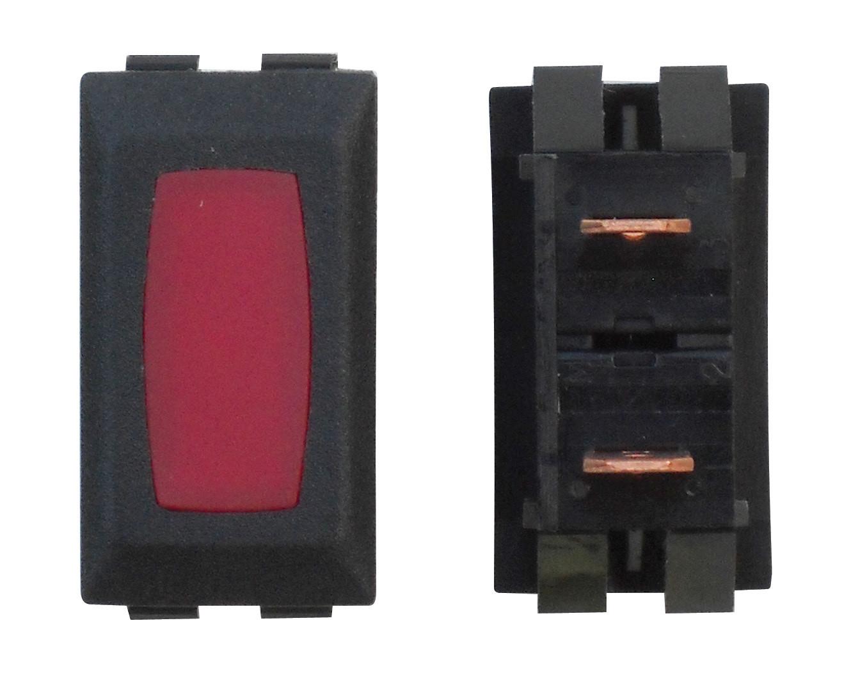Illuminated Indicator Light - Red/Black 1/card