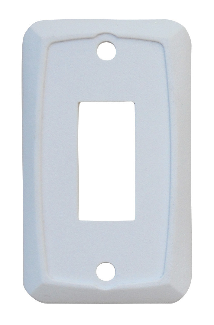Single Face Plate - White 1/card
