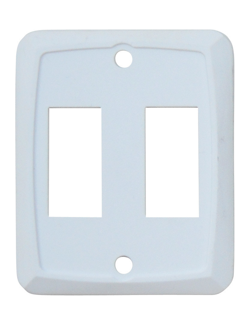 Double Face Plate - White 1/card
