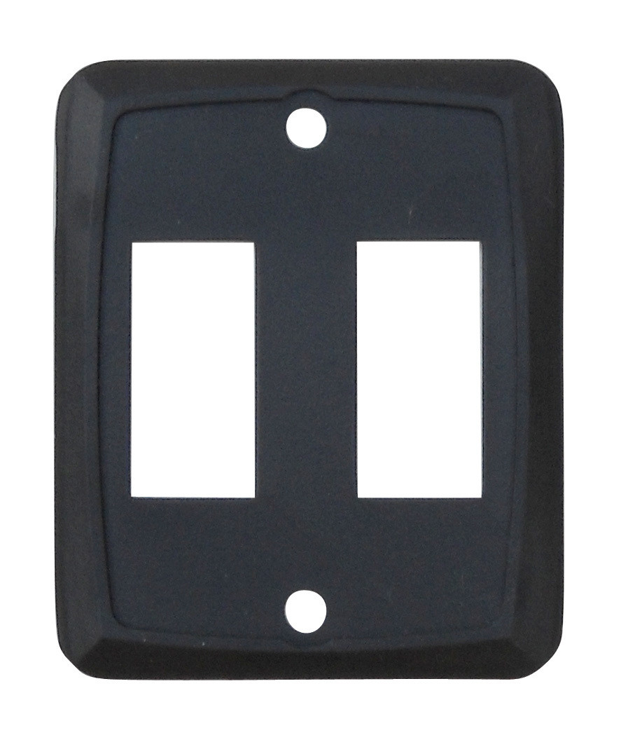 Double Face Plate - Black 1/card
