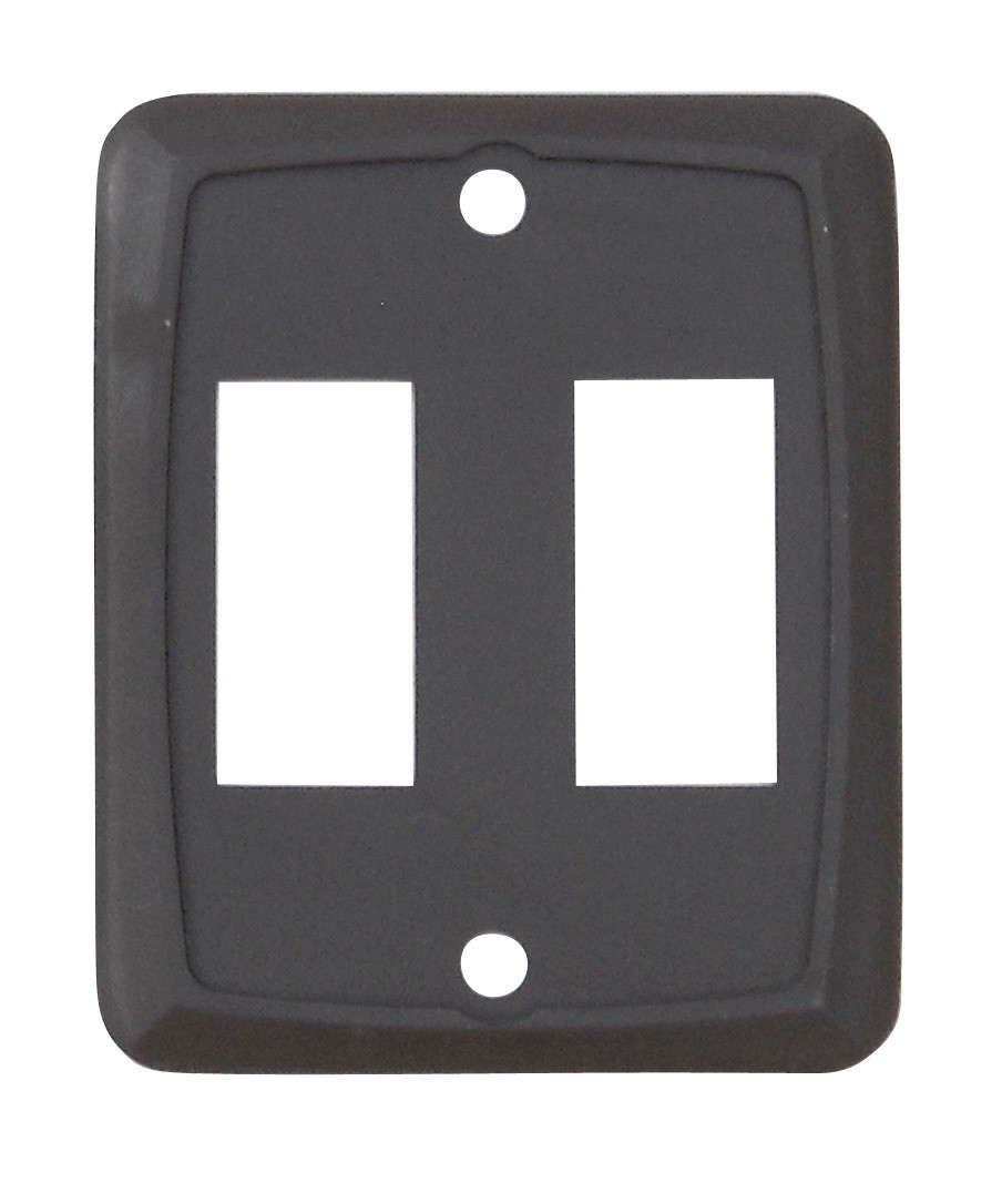 Double Face Plate - Brown 1/card