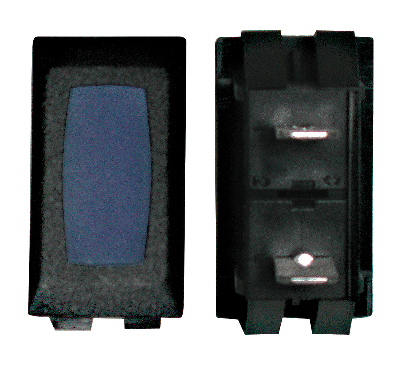 Illuminated Indicator Light - Blue/Black 1/card