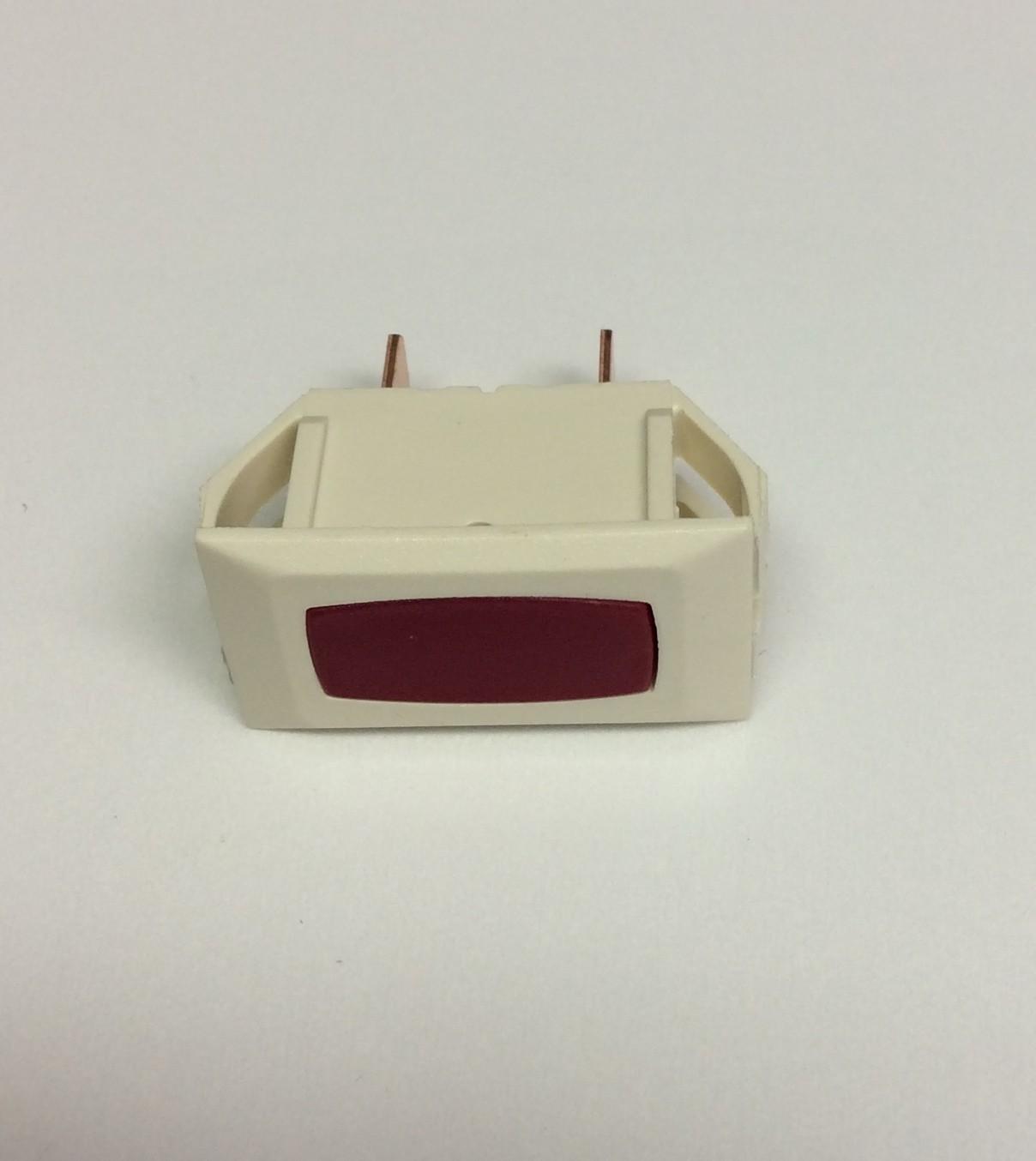 Illuminated Indicator Light - Red/Ivory 1/card