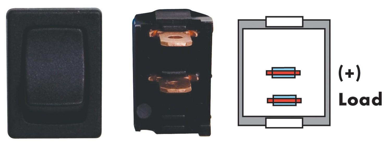 Mini On/Off SPST - Black 1/card