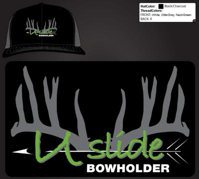 U-Slide Embroidered Mesh Hat Black/ Gray Preorder Now
