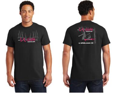 Mens Short Sleeve T-Shirt Neon Pink Logo