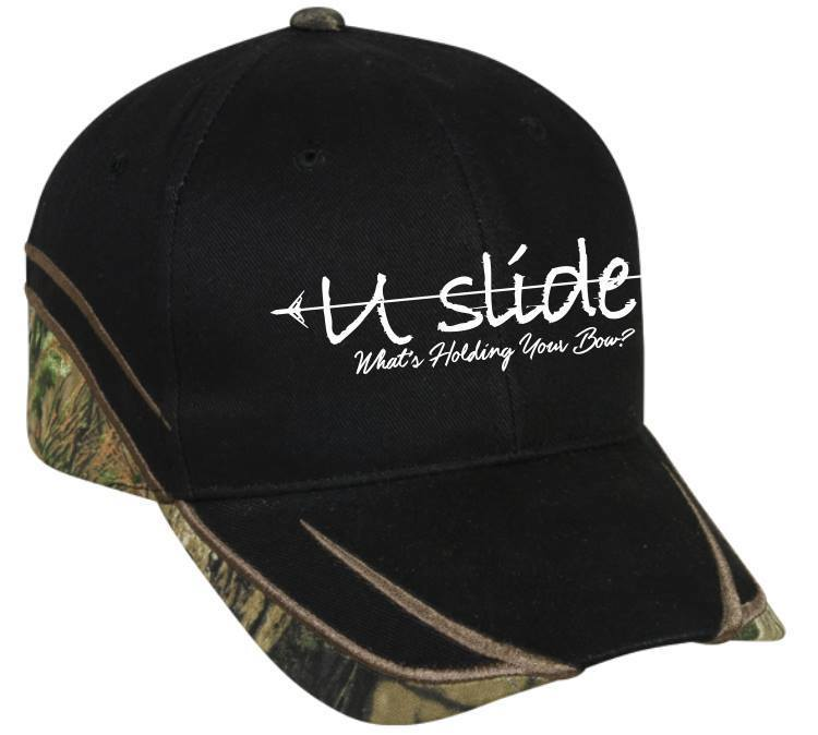 U-Slide Embroidered Hat Black/ Mossy Oak® Break-Up Country