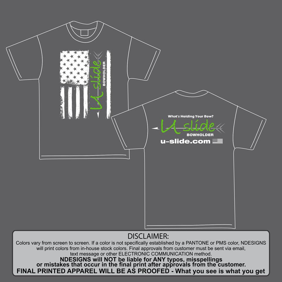 Mens Gray Flag U-Slide Shirt