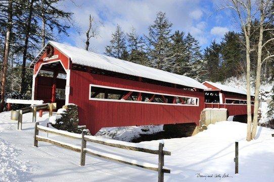 Winter Covered Bridge   18x27