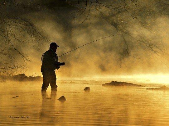Fisherman Silhouette  18x24