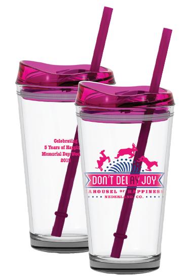 Don't Delay Joy Pint Glass glass