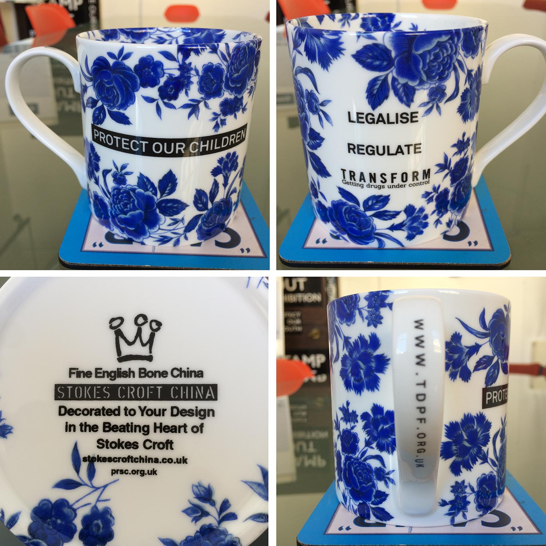 'Protect Our Children' Blue Floral Mug