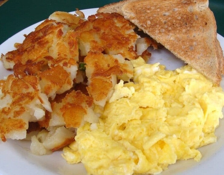 Eggs, Potatoes & Toast Platter