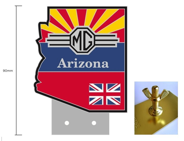 (05) Arizona MG Club Grille Badge 05