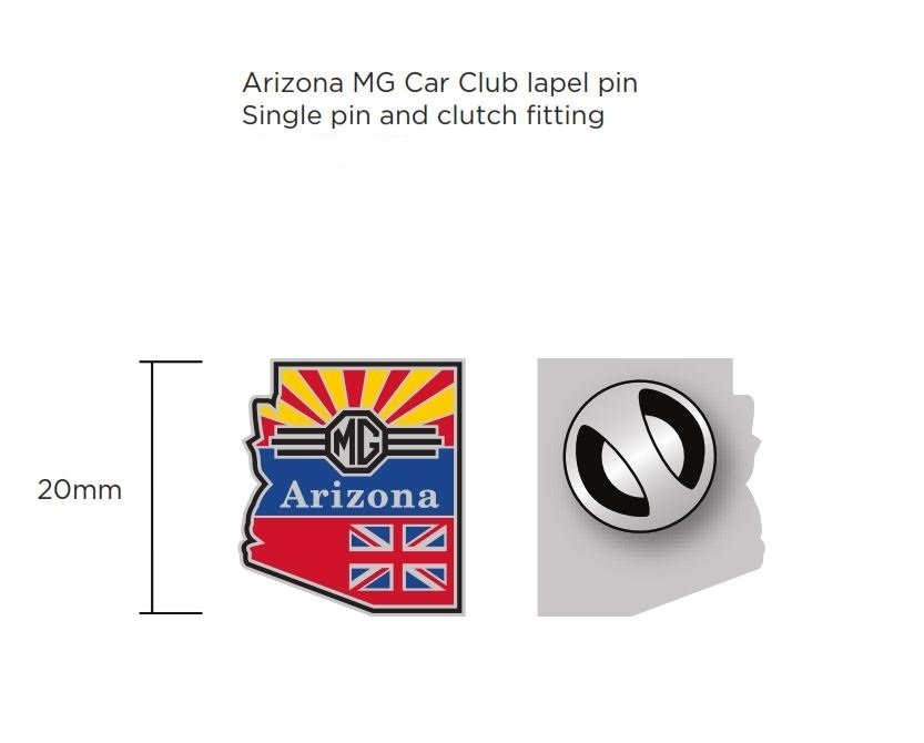 (06) Arizona MG Club Lapel Pin, Earrings, or Cufflinks 06