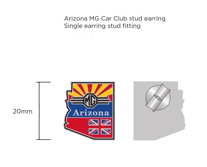 (06) Arizona MG Club Lapel Pin, Earrings, or Cufflinks