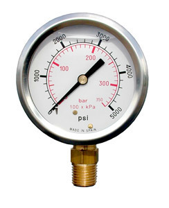 0-100 PSI Glycerine Filled Gauge FG-100