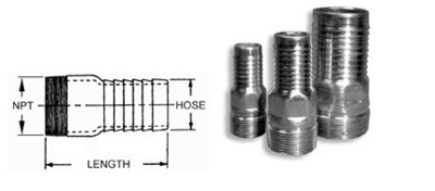 Steel Hose Barb  HCN075