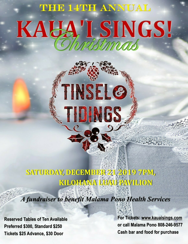 Kauai Sings Christmas Preferred Table