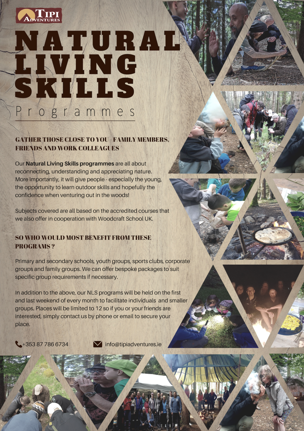 Natural Living Skills 2 - 2 day programme with 2 overnight camps and catering