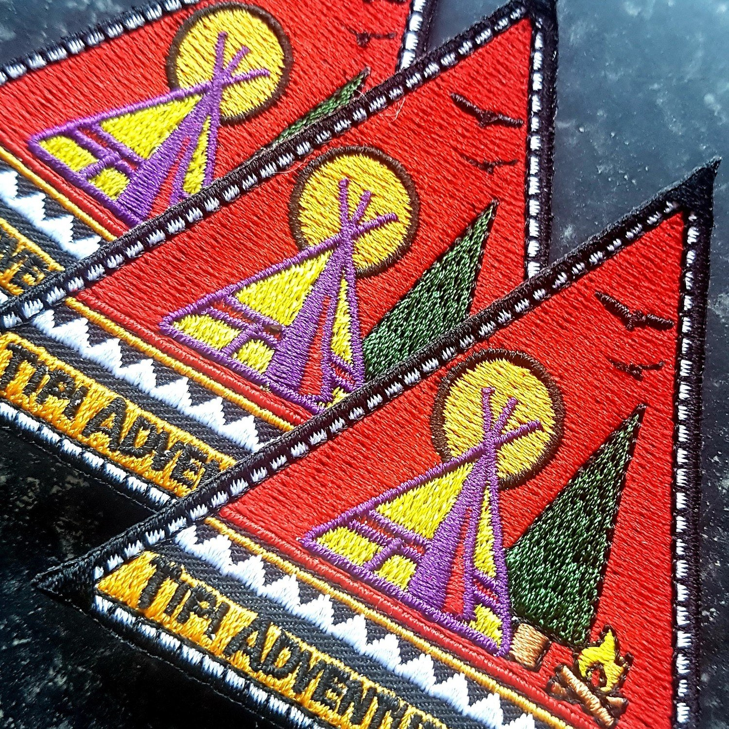 Tipi Adventures Embroidered Patches