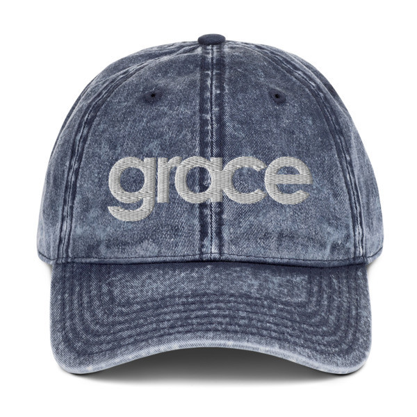 """Grace"" Vintage Cotton Twill Cap"
